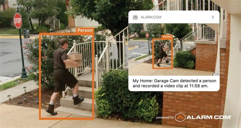 Get Smarter Video Alerts with Alarm.com Video Analytics Service